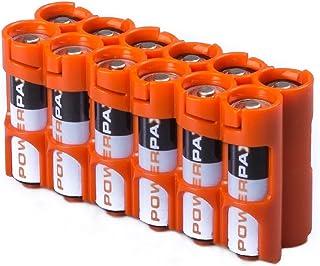 storacell por powerpax-Pack de AA 12-Pack Batería Caddy, amarillo, 12AAORG, Anaranjado