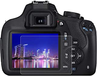 BYbrutek Protector de Pantalla de Vidrio Templado para Canon 1200D/1300D 03 mm Ultratransparente Lámina de protección LCD con Dureza 9H Antiarañazos sin Burbujas Antihuellas (1200D/1300D)