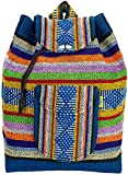 PINZON Escolar Hippie - Mochila escolar para niñas, mochila de surf, unisex, bohemia, grande, bolsa de escuela, bolsa de cordón, lona azteca para mujer, mochila plegable