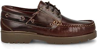 PAYMA - Chaussures Bateau Homme Femme Enfant Garçon Unisexe en Cuir Spécial Seahorse Huilé. 3 Oeillets Lacet at Velcro Cla...