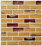 NICETOW 3D Wallpaper Decoração de Parede Tridimensional Parede de Tijolo Antigo Papel de Parede Retro Espuma Autoadesiva Parede de Fundo de Tijolo, 10 Folhas