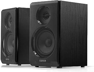 Edifier R33BT aktywne głośniki komputerowe Bluetooth – 2.0 głośniki regałowe – Powered Studio monitor, kolor czarny – para