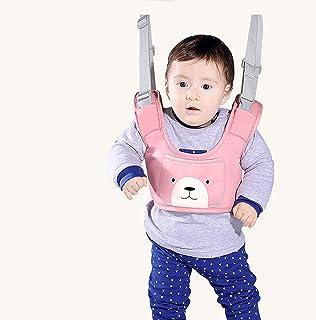 ベビーウォーカー 子供 ベビー歩行補助ベルト 迷子防止ハーネス 幼児歩行器 綱を引く 歩行学習ベルト ウォーキングハーネス 調整可能 走行姿勢補正 転び防止 6ヶ月-3歳(ピンク)