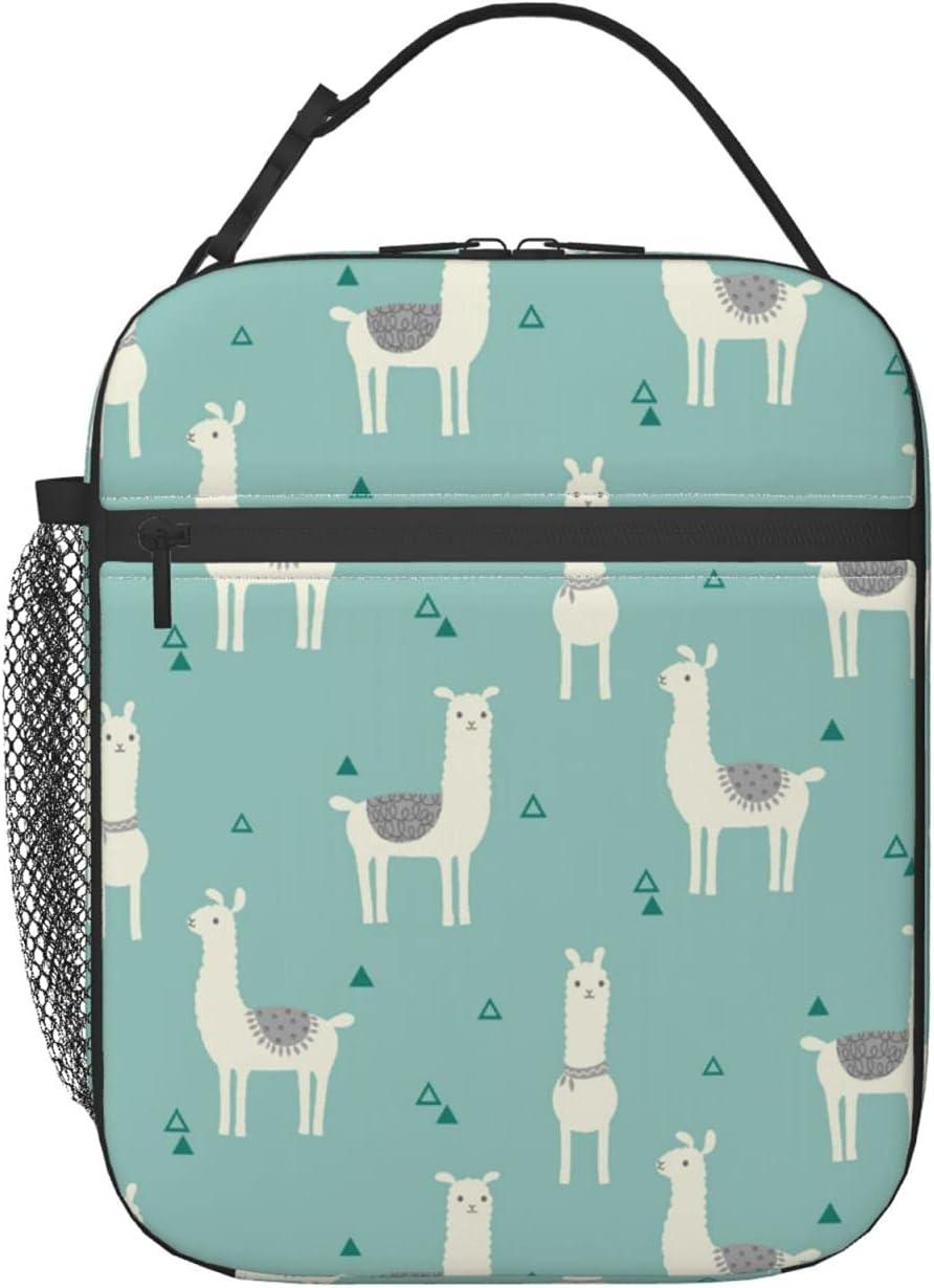 LPSIISA Llama Ranking TOP18 Animal Cartoon Lunch Bag Lu Reusable Men Women for 25% OFF