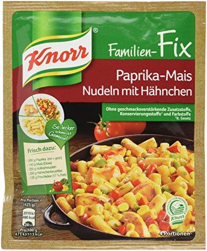 Knorr Fix Paprika-Mais Nudeln mit Hähnchen, 23er-Pack (23 x 4 Portionen)