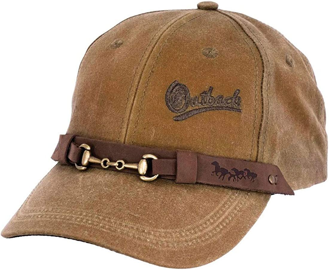 Outback Trading Company Unisex 1482 Waterproof 6-Panel Breathable Cotton Oilskin Equestrian Baseball Cap - One Size