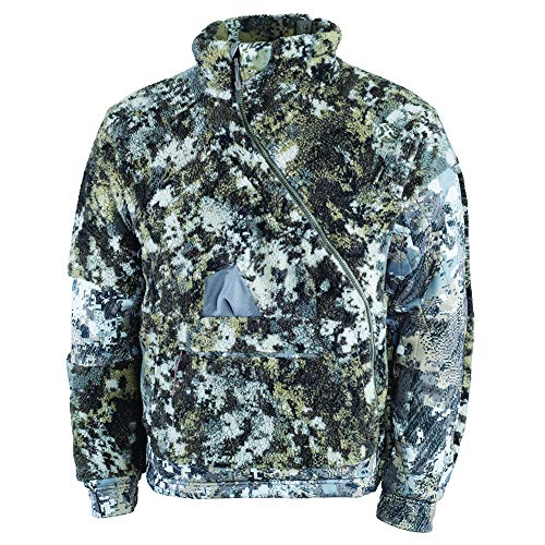 SITKA Men's Quiet Gore-Tex Windstopper Insulated Hunting Fanatic Jacket, Optifade Elevated II, L
