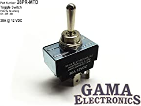 GAMA Electronics 30 Amp Toggle Switch 3 Position Reverse Polarity DC Motor Control- Maintained