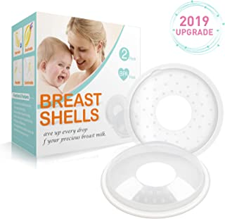 Breast Shells, Milk Saver for Breastfeeding – 2 Pack, Soft Nipple Shells, Nursing Cups with Massage Granule to Protect Cracked, Sore, Engorged Nipples & Collect Breast Milk Leaks