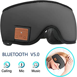 MOITA Sleep Mask, Bluetooth Sleep Headphones with Built-in Speakers, Wireless Sleep Eye Mask Music Player for Sleeping, Tr...