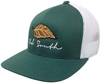 Old South Tobacco Leaf Embroidered Unisex Mesh Back Trucker Hat
