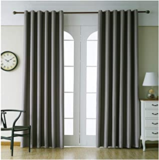 ChouZZ Blackout Curtain 98 Inches Length Darkening and Thermal Insulating Window Curtains/Panels/Drapes with Grommets - Dust and Wrinkle Resistant Curtain for Bed Room/Living Room (Gray, 40 x 98)