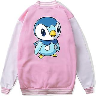 VJJ AIDEAR Pokemon Baseball Uniform Jacket Sport Coat Kids Long Sleeve Hoodie Sportswear Black