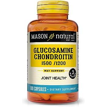 Mason Vitamins Glucosamine Sulfate & Chondroitin/Vitamin C/Manganese Maximum 1500/1200 Capsules Super Bonus Pack, 180-Count Bottle