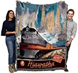 Pure Country Weavers Hiawatha Train Blanket Throw Woven from Cotton - Made in The USA (72x54)