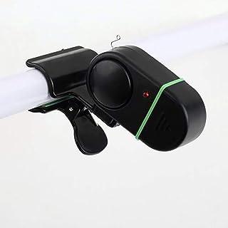 OurLeeme Alarma Pesca, Electrónica de LED Light Fish Bite Alerta de Sonido Clip en Herramienta de Rod Campana de Alarma Pesca
