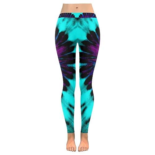 b5727cc835a417 InterestPrint Custom Galaxy Star Unicorn Stretchy Capri Leggings Pants for  Yoga Running Gym(2XS-