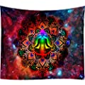 Seven Chakra Yoga Meditation Tapestry Wall Hanging Psychedelic Colorful Galaxy Tapestry Universe Space Bohemian Hippie Tapestry Yoga Wall Tapestry Studio Room Home Bedroom Decor(50W x 60L)