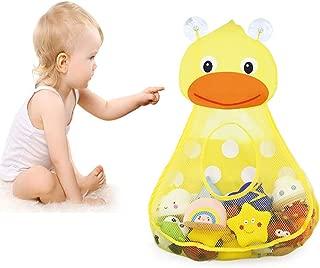 Beito 1 PC Organizador De Juguetes De BañO para NiñOs De Malla Transpirable Linda Bolsa De Almacenamiento De BañO Kids Bath Tub Toys Storage Mantenga Los Juguetes Secos (Pato)