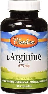Carlson - L-Arginine, 675 mg, Promotes Healthy Circulatory & Cardiovascular System, 90 capsules