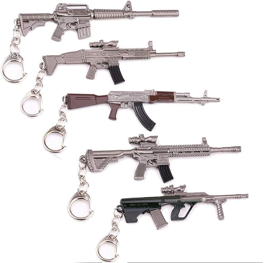 Arms Gun Keychain Game Keychains Accessories [5 Pack Set]