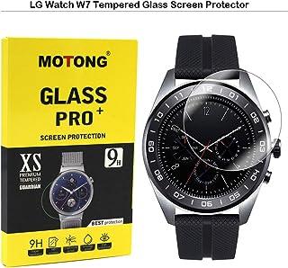 MOTONG LG Watch W7 Screen Protector - MOTONG Tempered Glass Screen Protectors for LG Watch W7 Watch,9 H Hardness,0.3mm Thi...