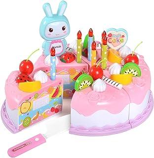 Henreal 37 Unids / Set Niños Niños Juguete Juego de rol Simulación Pastel de Cumpleaños Cortar