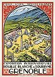 LINQWkk Blechschild Grenoble Reise-Poster, Paris,