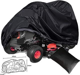 ZXXxxZ Cubierta de cortacésped para Exteriores Cubierta de Tractor Protección UV Ajuste Universal con cordón y Bolsa de Almacenamiento de Cubierta