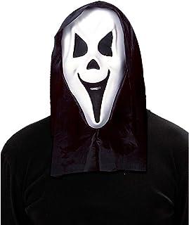 LEGISDREAM Maschera Scream Rossa Idea Spaventosa per Halloween Carnevale Scherzi tra Amici Cosplay Travestimento Pauroso Regalo Divertente per Bambini Adulti