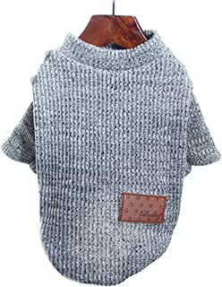 Personalise Pet Clothing Dog Two-Legged Clothes Than Xiong Bomei Schnauzer Teddy Small Dog Winter Sweater Soft (Color : Gray, Size : M)