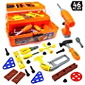 Big Mo's Toys Tool Box - Pretend Play Three Tier Educational Tool Kit for Kids Gift of All Ages - 46 Piece Set from Big Mo's Toys