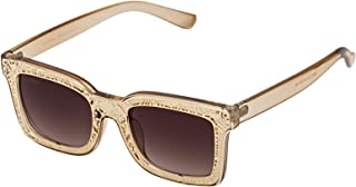 Sky Vision Rectangle Sunglasses for Unisex, Brown Lens, Z001C3