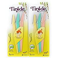6-Pack Tinkle Stainless Steel Eyebrow Razor