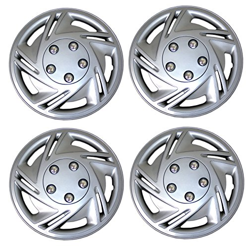 Tuningpros WC3-14-9602-S - Pack of 4 Hubcaps - 14-Inches Style Snap-On...
