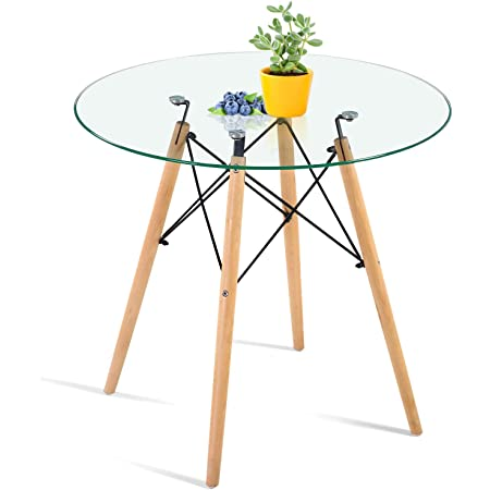 Glass Dining Table esszimmerztisch Kitchen Table Dining Table Modern 90x90 cm
