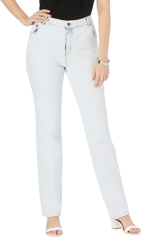 Jessica London Women's Plus Size Tall True Fit Straight Leg Jeans