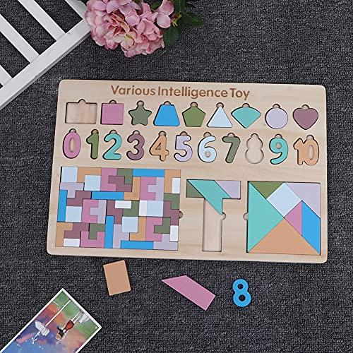 Brinquedo infantil de material ecológico de madeira, brinquedo quebra-cabeça de tinta à base de água, para crianças.