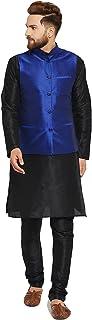 Sojanya (Since 1958) Blue Dupion silk ONLY Nehru Jacket