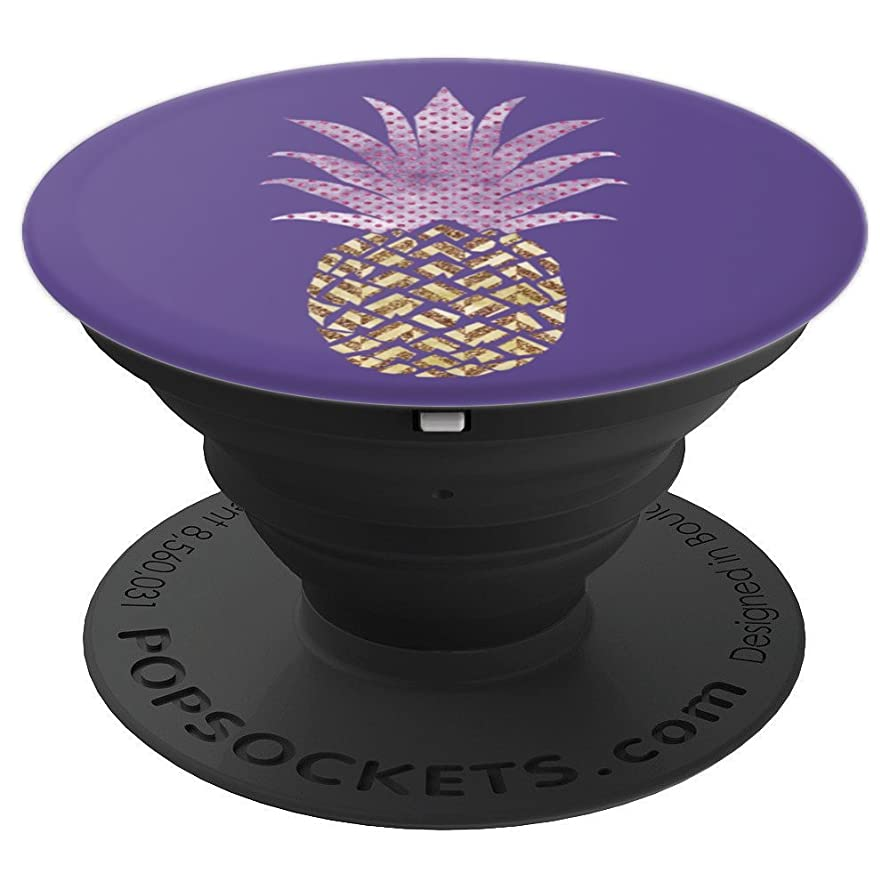 Gold Pineapple - Ultra Violet Purple - PopSockets Grip and Stand for Phones and Tablets