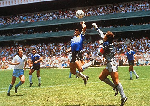 Póster de la Copa del Mundo de Dios Maradona