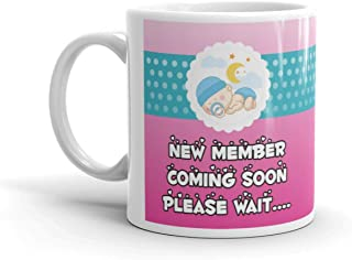 Family Shoping Pregnancy Gift for WifeValentine Day Gifts for Wife New Member Coming Soon Coffee Cup Tea Mug for Pregnant Ladys and Womens