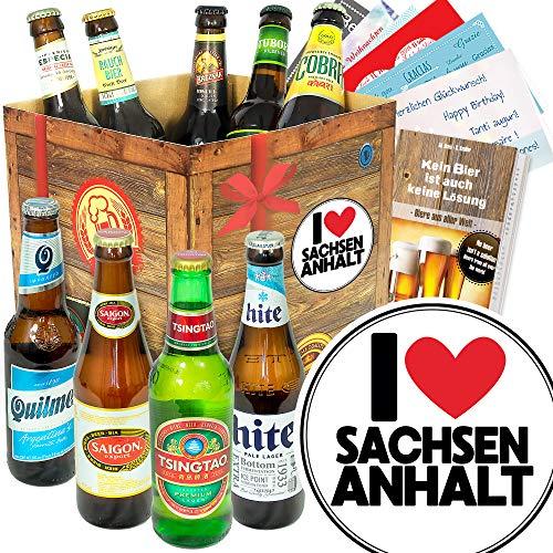 I Love Sachsen - Anhalt - Biere der Welt - Sachsen - Anhalt Geschenkbox