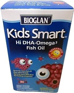 BioGlan Kids Smart Hi DHA Omega-3 Fish Oil, Chewable Burstlets, Berry 30 ea (3-pack)