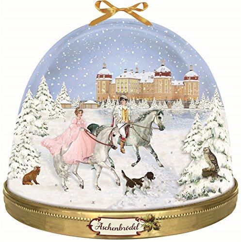 Carousel Home Calendario de adviento tradicional de lujo grande – Cuento de nieve de hadas