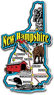 New Hampshire State Jumbo Map Magnet