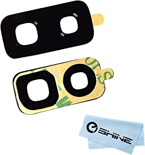 EShine Back Rear Camera Glass Lens Replacement + Adhesive Preinstalled for Samsung Galaxy S9+ Plus G965 (All Carriers) + Cloth