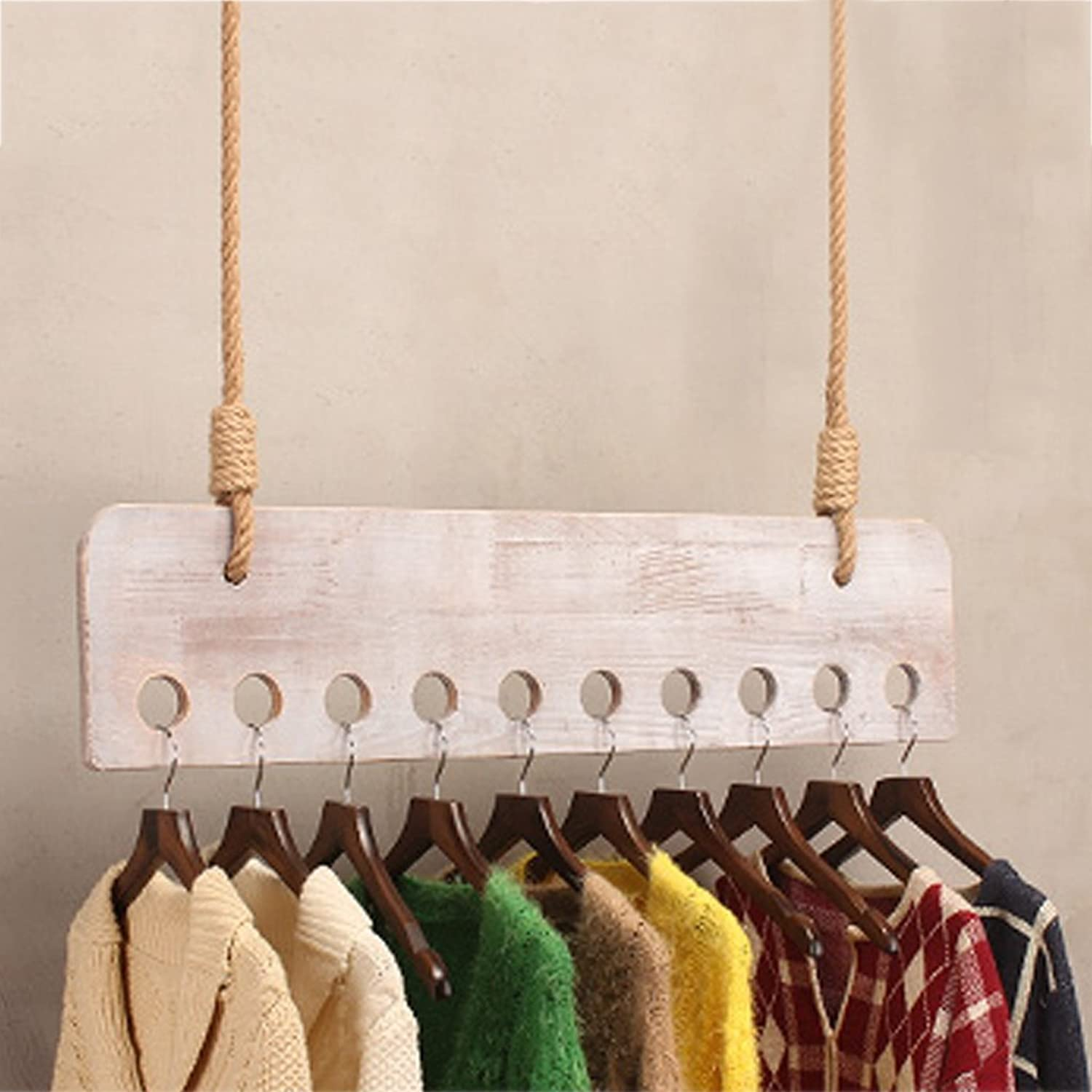 LAXF- Coat Racks Free Standing Wooden Wall Hanger Clothes Hanger Rack Clothes Storage Organiser for Store Utility Room Bedroom White (color    2-100cm)