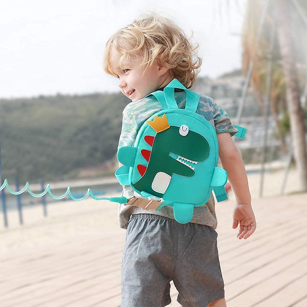HUGVIDAS Anti-Lost Rope Backpack,Toddler Walking Belt,2 in 1 Infant Belt with Backpack and Anti-Lost Rope,Anti-Lost Rope for Children,Anti-Lost Wrist Strap with Safety Lock,8.5 Feet,Cute Dinosaur