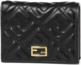 (フェンディ) FENDI 二つ折り財布 スモール ブラック 8M0420 AAJD F0KUR [並行輸入品]